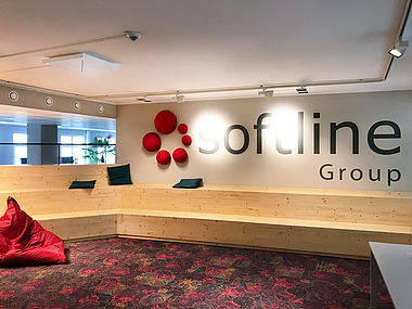Leipzig office Softline logo Town Hall
